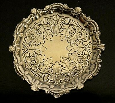 Miniature Sterling Silver Tray Dollhouse 1:12 Artist Cini