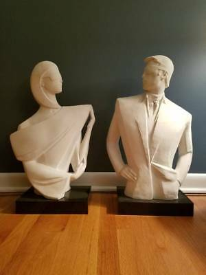 Austin Productions Mysterious 1 and 2 Pair of Sculptures by David Fisher