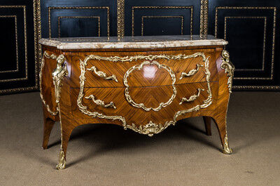 High Quality French Dresser in the Louis Quinze Style Marble Platter