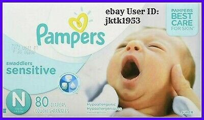 Pampers Swaddlers Sensitive Disposable Baby Diapers Newborn Size 0 < 10 Pounds