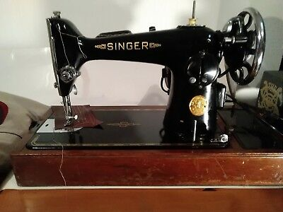 Heavy Duty Vintage Singer 201k electric  PAT TESTED AND VIDEO
