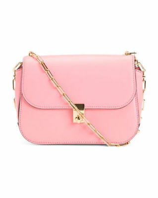 7c6b34d9160 NWT Valentino Made In Italy Pink Rockstud Leather Saddle Bag  1895 Sold out!