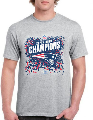 Men's New England Patriots NFL Super Bowl LIII Champions 2019 T Shirts