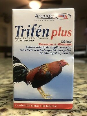 Trifen Plus 100 Tablets (Dewormer) Gamefowl Gallos Poultry