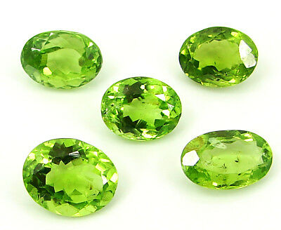12.85 Ct Natural Green Peridot Loose Gemstone Lot of 5 Pcs Oval Stone - 22843