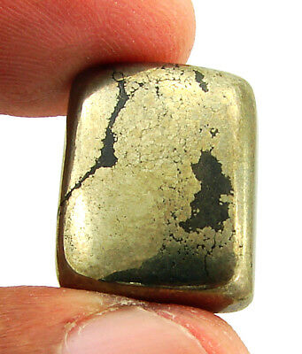 30.15 Ct Natural Golden Pyrite Loose Gemstone Cabochon Healing Cab Stone - 23646