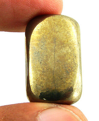 40.30 Ct Natural Golden Pyrite Loose Gemstone Cabochon Healing Cab Stone - 23639