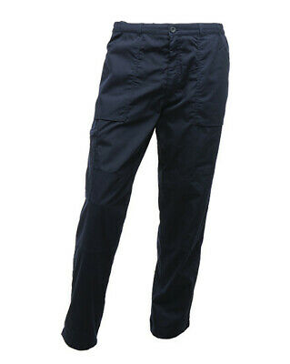 Regatta TRJ331 Action Lined Men Work Trouser Polycotton Pants Workwear Long Leg