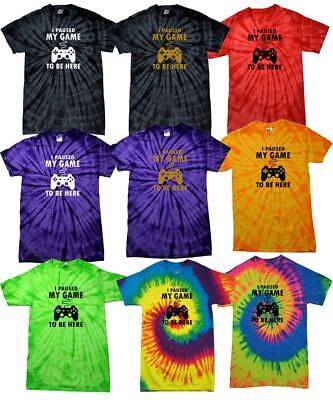 ColorTone Tie Dye I Paused My Game To Be Here Kids T-shirt Music Festival TShirt