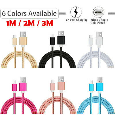 Extra Long Micro USB Data Charger Cable for Samsung Galaxy J6 A6 A7 J4 Plus 2018