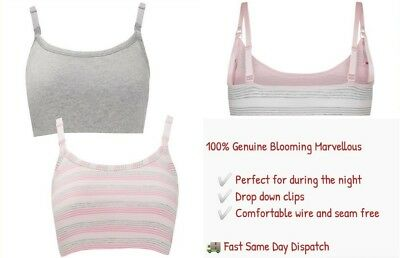 Mothercare Blooming Marvellous Breastfeeding Bra Nursing Maternity Sleep Bra 2P