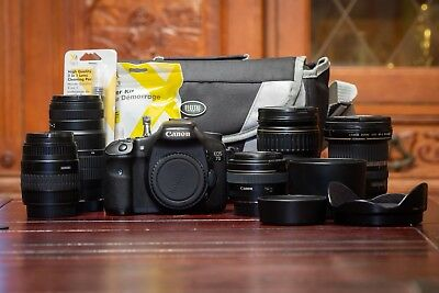 Canon EOS 7D 18 MP CMOS Digital SLR Camera with 3-inch LCD & FIVE Lens Kit