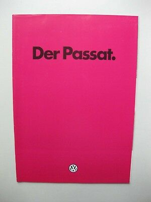 VW Passat prestige brochure Prospekt German text  Deutsch 28 pages 1981