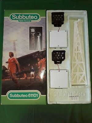 Rare Boxed Subbuteo Set 61101 Pair of Floodlights Complete Very Good Condition