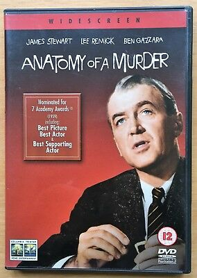 Anatomy of a Murder DVD James Stewart Lee Remick Widesecreen vgc