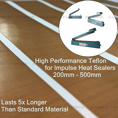 High performance Spare Teflon Tape Strips for 200/300/400mm Heat Sealer Machines