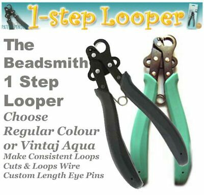 Beadsmith Plooper, 1 Step Looper Eyepin Cut & Loop, Rosary Plier, Choose Size