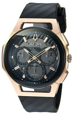 Bulova Curv Chronograph Rubber Mens Watch 98A185
