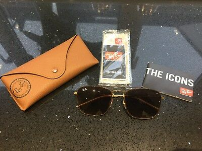 423365f71d *Ray-Ban Sunglasses 3588 9055/13 Brown Gold Brown Gradient Fab Condition &