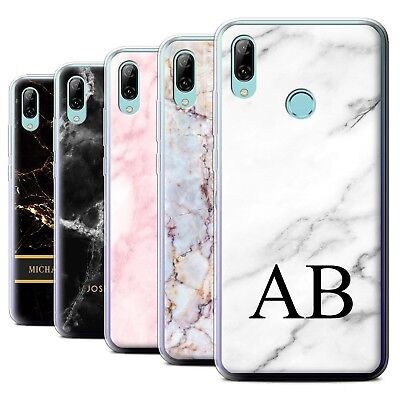 on sale 522c5 1b785 PERSONALISED CUSTOM MARBLE Case for Huawei P Smart 2019/Initial Gel Cover