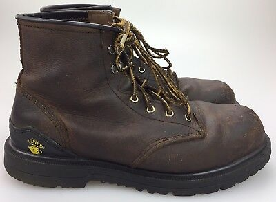 """f340864a469 7"""" HERMAN SURVIVORS Steel Toe Work Safety Boots Mens Brown Leather Size 10.5"""