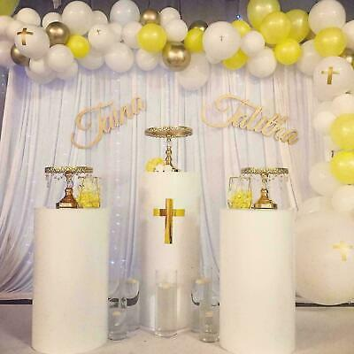 Round Display plinths/podiums White ,gold or silver