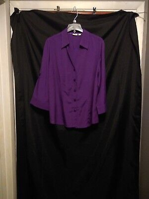 e583d321998 Women s Plus Size Purple Cato Button Up Shirt Size 18 20W