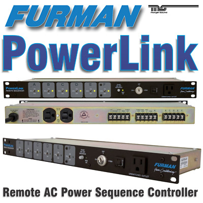 Furman PowerLink Remote 6-Outlet Power Sequencer - New!!
