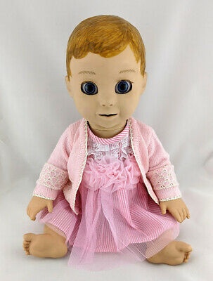 99c146cf4c25 Luvabella Doll Clothes Dress Set - Pink Lace Detail Dress & Knitted Cardigan