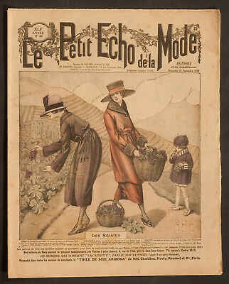 'le Petit Echo De La Mode' French Vintage Newspaper 21 September 1919