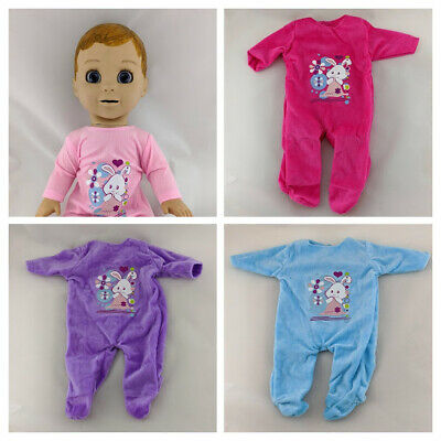 Luvabella Luvabeau Doll Clothes Sleepsuits Rompers
