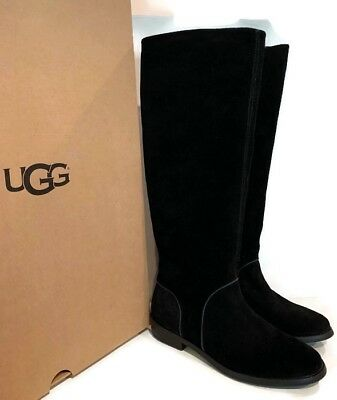f5385fe5dc578 UGG Australia DALEY BLACK TALL SUEDE EQUESTRIAN WOMEN`S BOOTS SIZE US 6