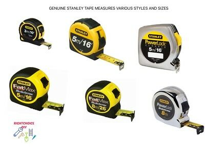 Stanley Tape Measures Fatmax Powerlock Metal Tylon 3M 5M 8M 10Ft 16Ft 26Ft