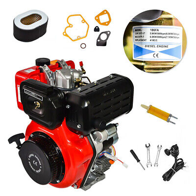 New 10HP Air Cooled Single Cylinder Diesel Engine 411cc