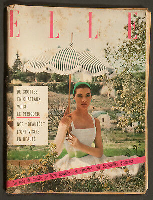 'elle' French Vintage Magazine Summer Issue 3 June 1957
