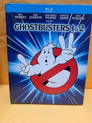 Ghostbusters 1 & 2 (Blu-ray, 2014, 2-Disc Set, Digibook, Mastered in 4K)