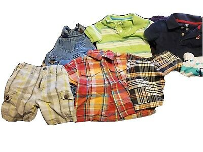 Lot Of Boys 12M Short Sleeve Shirts/Shorts Jumping Beans Wave Zone Winnie