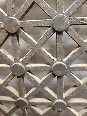 "large Antique Cast Iron Wall/Floor Register Heat Grate Ven 50 1/4""H X 24 1/2""W"