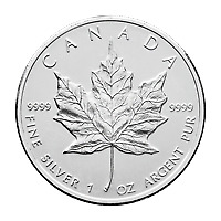 Lot of 100 x 1 oz Random Year Canadian Maple Leaf Silver Coin