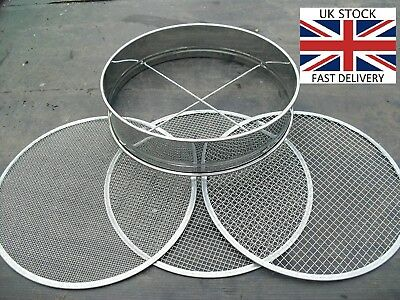 Gold Pan Washing Tool Rush Sifting Classifier Stainless Steel 3x Mesh Sizes 🇬🇧