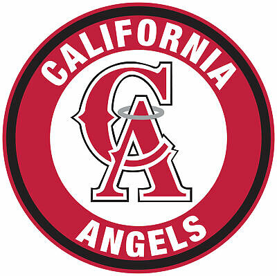 Los Angeles Angels of Anaheim CA logo Circle Logo Vinyl Decal  Sticker 10 sizes!