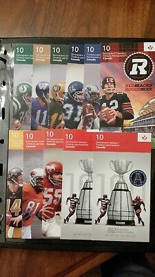 CFL 100th Anniversary Complete Booklet Set Including Toronto Argonaut Overprint