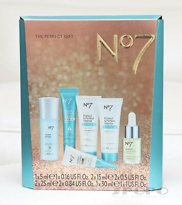 Boots No7 The Protect & Perfect Gift Set Intense Advanced Serum/Eye Cream/Oil