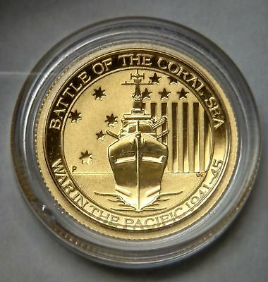 2015 Gold Australia $15 Dollar Battle Of The Coral Sea 1/10 Oz Coin Perth Mint