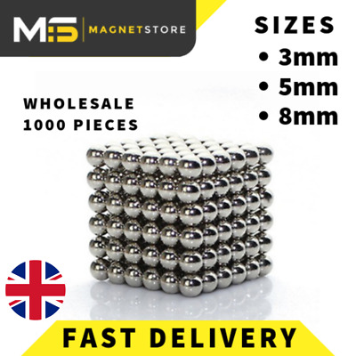 Magnetic Balls Super Strong Neodymium N42 Sphere Magnets 3mm 5mm 8mm Hobby Gift