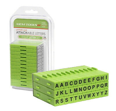 Xiem Tools Attachable Letters Stamp Set, Uppercase, Set of 36