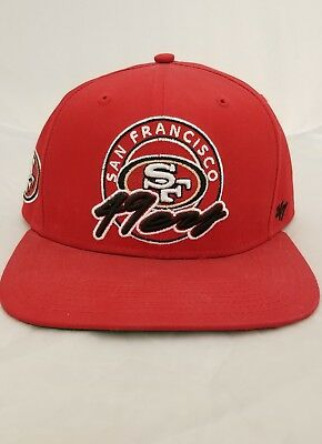 399786a324c10 SAN FRANCISCO 49ERS  47 Brand Black Frost MVP Adjustable Hat ...