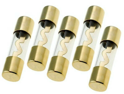 10 PACK 70 AMP AGU FUSE FUSES GOLD PLATED INLINE HIGH QUALITY GLASS NEW AGU70