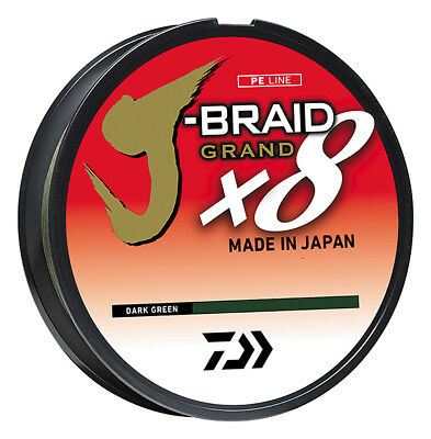 Daiwa J-Braid Grand x8 Dark Green - Braided Fishing Line w/ IZANAS Fiber