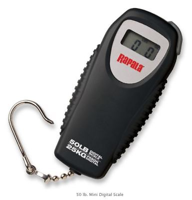 Rapala Mini Digital Fish Scale, Water-Resistant Fish Scale W/ Hook - 50 & 25 Lb